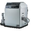 DASCOM DC-7600 - Rapide et fiable La technologie d'impression retransfert est le prochain niveau de technologie Direct-to-Card. Tout d'abord, l'image est imprimée sur un film, puis l'image est transférée du film sur la carte. Cette technique convient à l'impression de bord à bord, l'impression en mode intensif, améliore la fiabilité et l'utilité pour une grande variété de types de cartes.