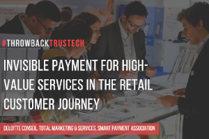 Invisible payment for high-value services in the retail customer journey